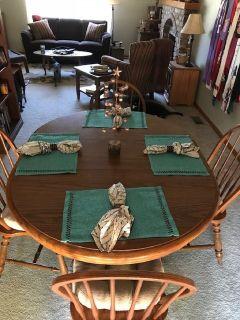6 piece oak dining set