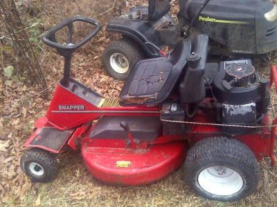 28Cut 10HP Snapper riding mower