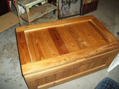ALL WOOD MINT TOY CHEST STORAGE CHEST