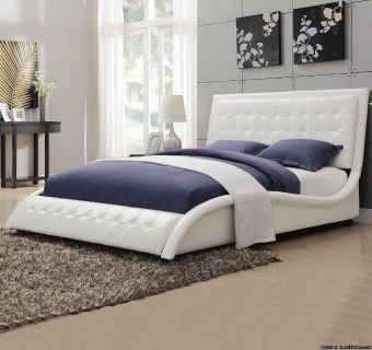 ULTRA CONTEMPORARY BUTTON TUFTED UPHOLSTERED QUEEN BED