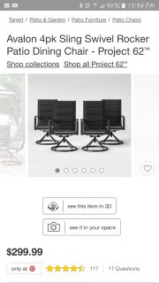 5 piece patio set new (cross posted)