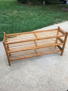 Antique wooden shoe rack
