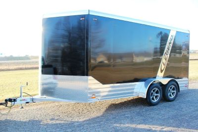 2018 Legend, 7 x 17 Deluxe V Nose Cargo Enclosed Aluminum Trailer