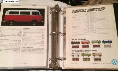 Bay window bus literature, ads, brochures