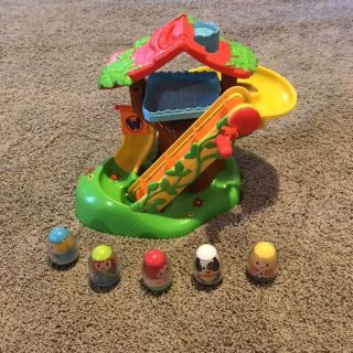 Little people 2 car travel friendly race car track toy (cross posted)