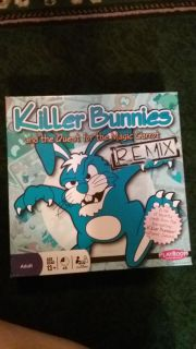 Killer bunnies board game opened but never use. Cards still wrapped. Smoke free home