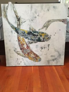 Beautiful fish painting 35in x 35in asking $40