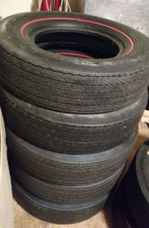 Purchase NOS Vintage 1967-1969 Chevy Camaro Set of 5 Firestone tires 67 68 69 E 70-14 motorcycle in Hutchinson, Kansas, United States, for US $2,000.00