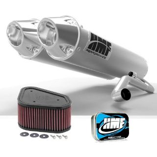 Buy HMF Kawasaki KFX 700 2004 - 2010 Brushed/Polished Dual Full Exhaust + JET + KN motorcycle in Berea, Ohio, United States, for US $604.11
