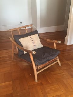 Mid Century Modern Bamboo Chair