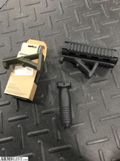 For Sale: AR15 Quad rail and Magpul grips