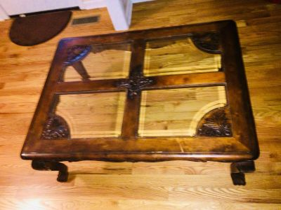 Beautiful Glass Top Center Table