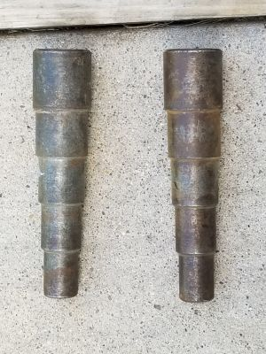 Pipefitter. Welder. Two holes pins .