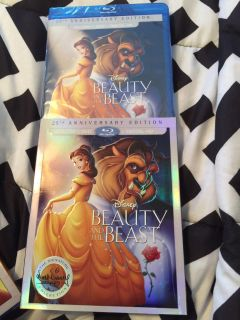 Beauty and the beast blu ray and dvd BRAND NEW
