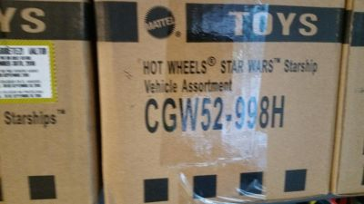 Star Wars Hot Wheels sealed case of ships H assortment