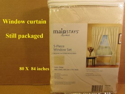 Window curtains new still in package
