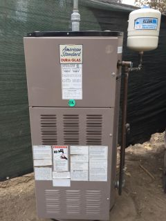 Electric commercial water heater + expansion tank