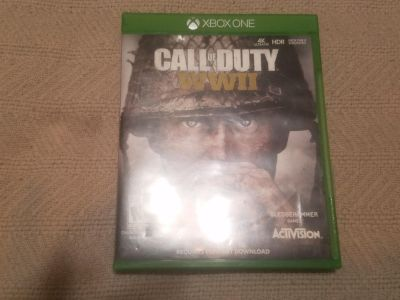 XBOX ONE CALL OF DUTY WWII IN EXCELLENT CONDITION XPOST