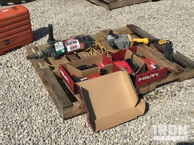 Lot of (2) Hilti Drills, (1) Hilti Hand Held Core Drill & (1) Dewalt Drill