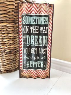 Rustic Tin Dreams Inspiration Encouragement Wall Hanging