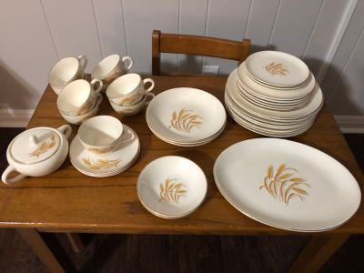 Golden Wheat Antique Dishes