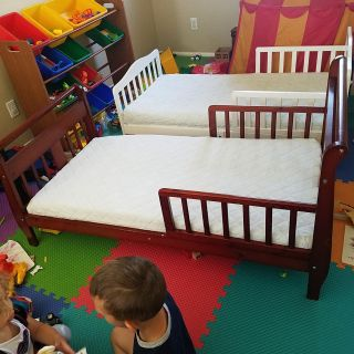 Two Toddler Beds and Ikea Mattresses
