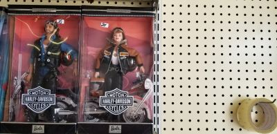 Harley Davidson Barbie and Ken dolls in the Box new