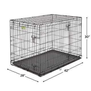 "42"" iCrate Large Dog Cage 2-Door"