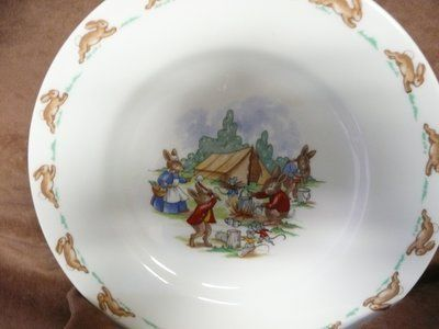 Vintage 1980's Royal Doulton Bunnykins Plate-reduced