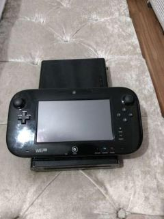 Black Wii U with game