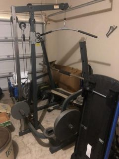 All in one weight gym equipment