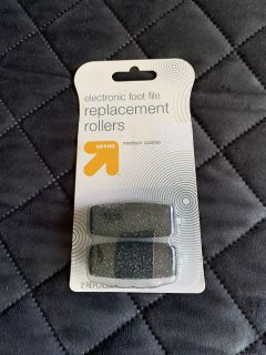 New electronic foot file replacement rollers