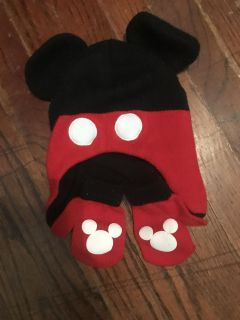 Mickey hat and matching gloves