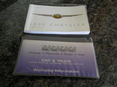 2000 Chrysler Cirrus Owners Manual w/Case