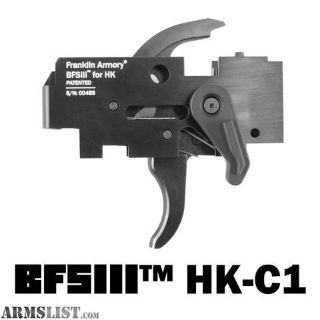 For Sale: Franklin Armory BFS III binary trigger FOR HK