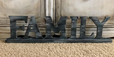 Painted family sign
