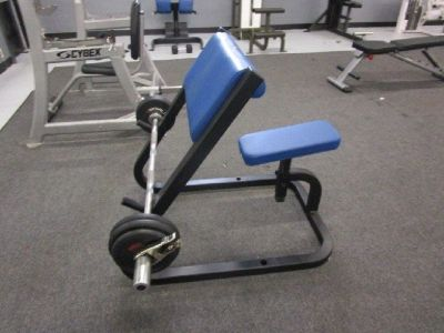 Cybex Seated Preacher Curl Bench RTR# 9023650-07