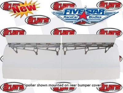 """Buy FIVE STAR RACING BODIES 661-6737 1/4"""" POLY SPOILER BLADES ALUM BRACKETS 6.5X70 motorcycle in Santee, California, United States, for US $115.00"""