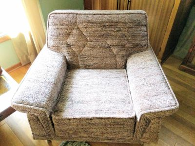Vintage 1950's/1960's Mastercraft of Omaha Upholstered Arm Chair
