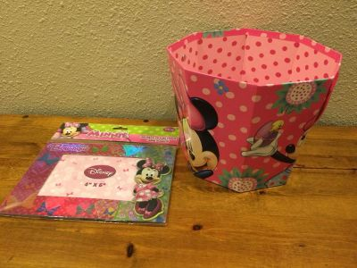 Minnie Mouse Easter bucket and new magnetic picture frame