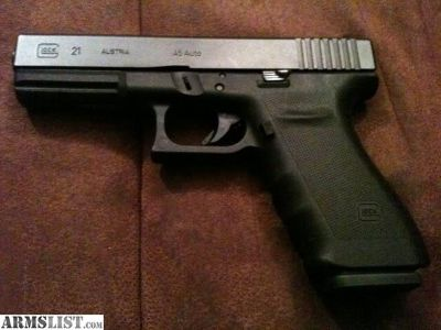 For Sale: Glock 21 SF with 10 mm conversion