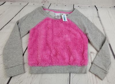 Piper Small 6/6x Long Sleeve Grey Sweater