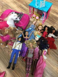 Miscellaneous Barbies and accessories