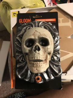 Scary doorbell lights up and talks