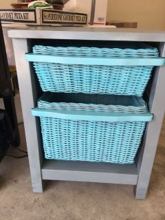 Wicker drawer stand