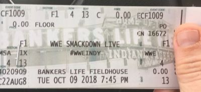 4th row seats WWE smackdown