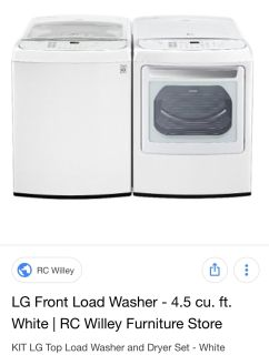 HE Washer /Dryer