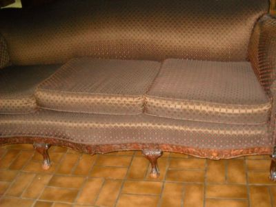 Antique wood and material Sofa