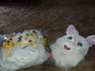 Complete easter bunny costume