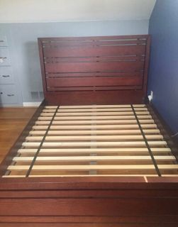 Crate & Barrel queen bed frame